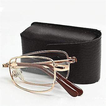 mini folding lesebriller menn kvinner ultralett se briller slank fold