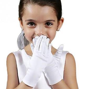 Short Satin Dance Performance - Elastic Gloves