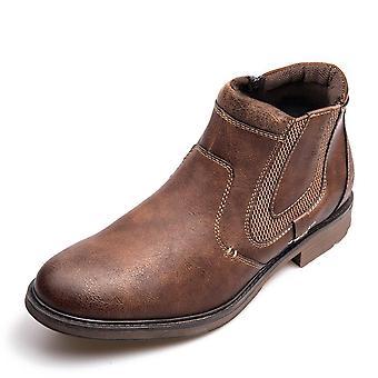 Men Autumn Winter Vintage Style Ankle Short Chelsea Leather Boot