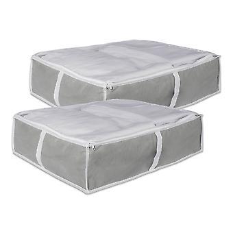 Dii Medium Gray Under-The-Bed Soft Storage (Conjunto de 2)