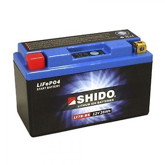 Shido Motorcycle Lithium Iron Battery LiFePO4 12V 3Ah 0 7kg 150x65x92mm