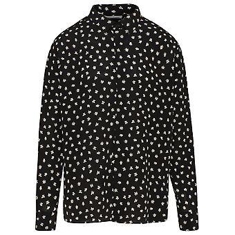 Saint Laurent 646850y2c861095 Männer's schwarze Seide Shirt