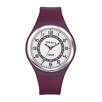 Tekday 654652 Watch - Silicone Violet Women's Silicone Case