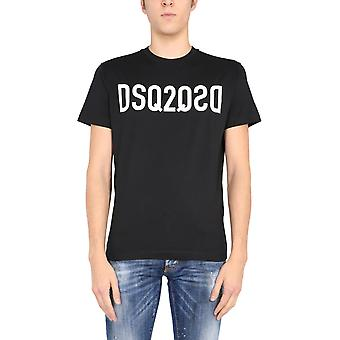 Dsquared2 S74gd0787s22844900 Men's Black Cotton T-shirt