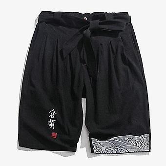 Cotton Linen Harem Jogger Pants Hommes Veau longueur Summer Men Sweatpants Casual