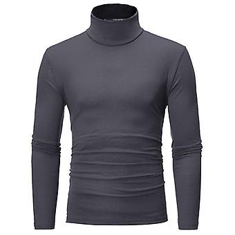 Turtleneck, Solid Color, Slim Elastic Thin Pullover, Spring, Autumn Clothing