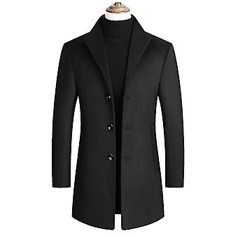 Autumn Winter New Solid Color High Quality Men's Wool Jacket Luxurious Brand