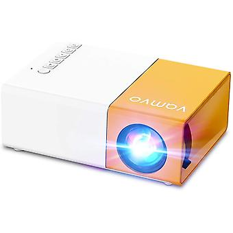 YG300 pro Mini Projector, Portable Movie Projector 1080p Supported for Kids Gift
