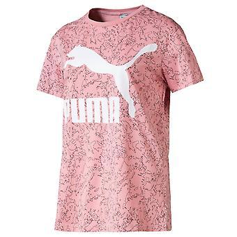 Puma Classics Logo Tee All Over Print T-paita Naisten Top 595519 14