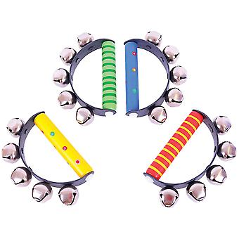 Bigjigs Toys Snazzy Handle Bells Musical Noisy Kid's Instruments
