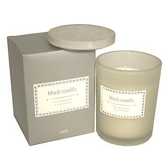 Glass Candle W/Lid In Dark Grey Gift Box - Black Vanilla