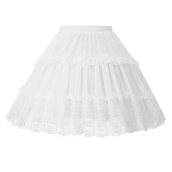 Enagua Crinolina con falda de swing plisada con volantes de cintura elástica