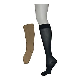 Legacy Women's S/M Silky Light Compression Socks Set of 3 Green A370508