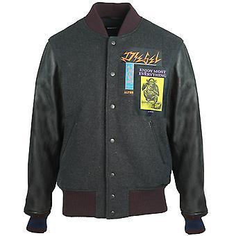 Diesel R-Harryz Black Varsity Jacket
