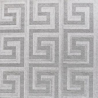 Griechische Schlüsselfolie Tapete Silber Arthouse 298102