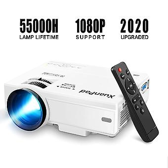 Xuanpad mini projector portable video-projector,55000 hours multimedia home theater movie projector,