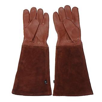 Heavy Duty Gardening Rose Pruning Gauntlet Gloves, Thorn Proof, Long Sleeve,