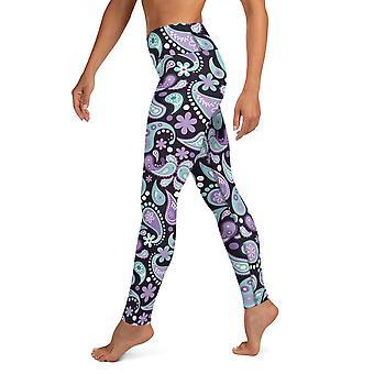 Hohe Taille Paisley Yoga Leggings