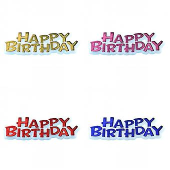 Creative Happy Birthday Text Design Party Cake Topper