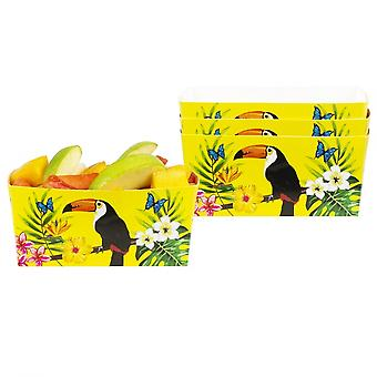 Boland Party Trays Toucan 7 X 14 X 7 Cm 4 Pieces