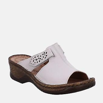 Katalonia 32 weiss - josef seibel valkoinen naisten sandaali muuli