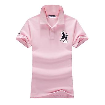Summer Logo Slim Polo Shirts Fashion Big Horse Embroidery Short-sleeved Cotton