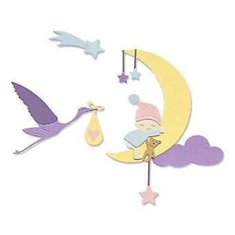 Sizzix Thinlits Die Set - 9pk Lunar Baby 665085 Olivia Rose