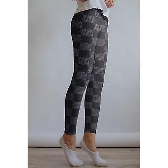 Checkered Leggings Capris And Shorts