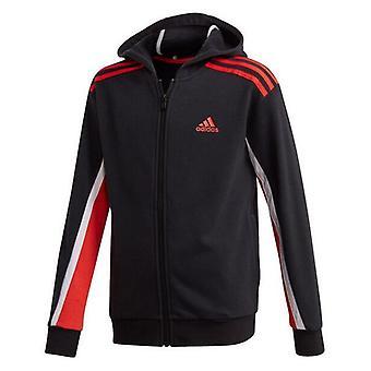 Children's Sports Jacket Adidas B Bold FZHD Black