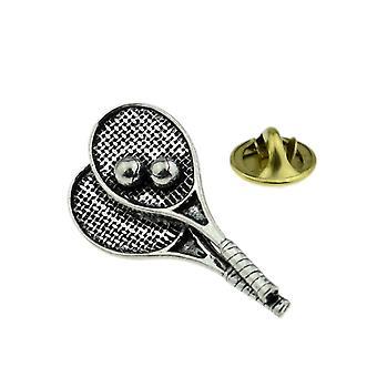 TennisSchläger Zinn Anstecknadel