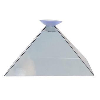 Mini 3d Hologram Pyramid Display Projector Video Stand Universal For Xiaomi