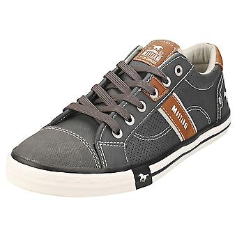 Mustang Sneaker Low Mens Casual Trainers in Graphite
