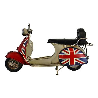 Vintage Style Union Jack Scooter Ornament
