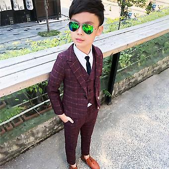 Vêtements formels, pantalon blazer, costumes de mariage, ensembles de vêtements élégants pour enfants,