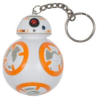 Chaveiro pop funko star wars bb-8 luzes e sons