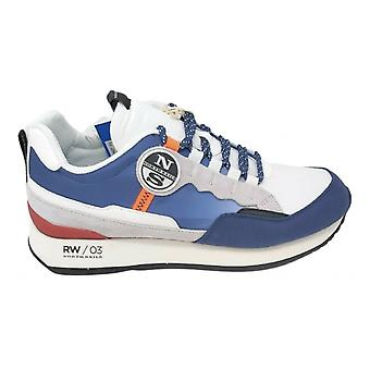 Shoes North Sails Sneaker Rw/03 Watercraft Suede/ Navy Blue Fabric/ White Us21ns05