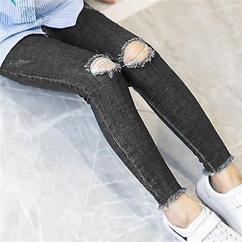 Girls Hole Ripped Jeans, Denim Pants