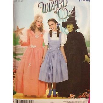 Yksinkertaisuus Ompelu kuvio 4136 0624 Misses Ladies Wizard of Oz Puku S 6-12 UC