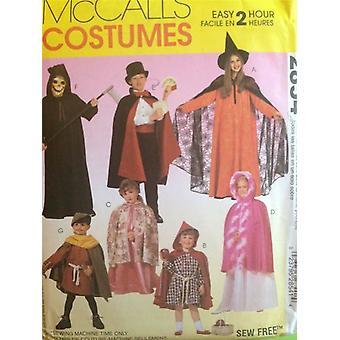 McCalls نمط الخياطة 2854 الأطفال الساحر الساحر الأزياء حجم 2-12 Uncut
