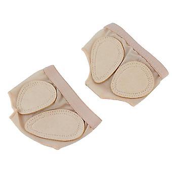 1 Protetor de pé de par, capa de patas de dança forefoot, sapatos de cuecas do dedo do pé