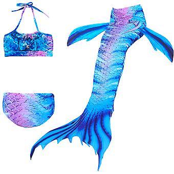 Hableány lány fürdőruha háromrészes bikini farok úszás tscs-20