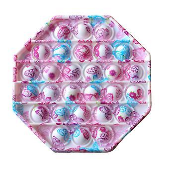 Stuff Certified® Pop It - Fidget Anti Stress Toy Bubble Toy Silicone Octagon Butterflies