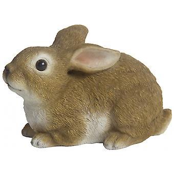 bunny lying 16 x 10 cm polyresin brown