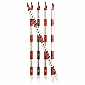 KnitPro Smart Stix: Knitting Pins: Double-Ended: Sienna: Set of 5: 20cm x 7.00mm