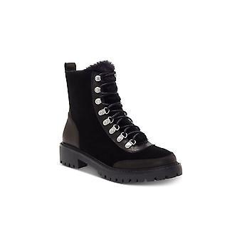 Lucky merk Womens Ilianna Suede amandel teen enkel mode laarzen
