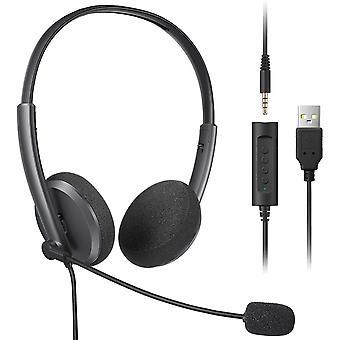 FengChun PC Headset mit Mikrofon Noise Cancelling Lautstärkeregler PC Kopfhörer 3,5mm mit