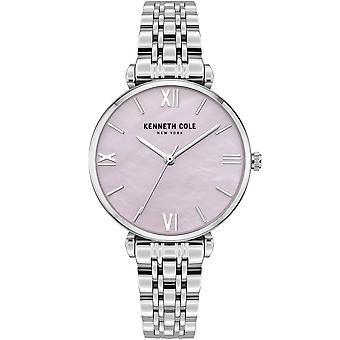 Kenneth Cole Kc51115001a Moderne Klassisk Perlemor &sølv rustfrit stål Ladies Watch