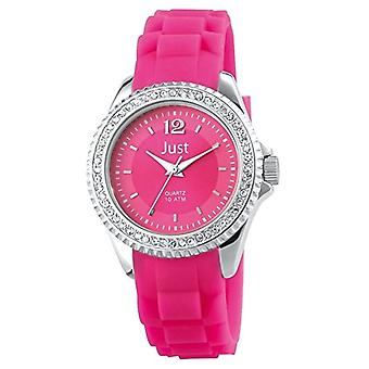 Just Watches 48-S3858-RO - Women's wristwatch, fuchsia-colored rubber strap