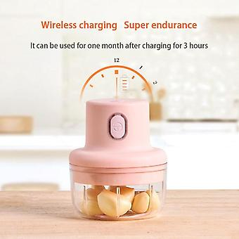 100ML Wireless Electric Garlic Press Meat Grinder Juicer Household Fruit Vegetable Chopper Mixer