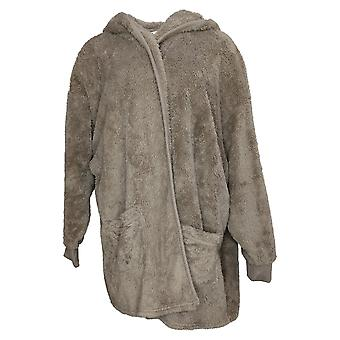 Koolaburra by UGG Women's Plus Sweater Cozy Plush Cardigan Brown A386142